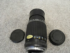 SMC PENTAX-M 1:4 75~150mm zoom Lens With Pentax PK Fit P K UK W BOTH CAPS vgc