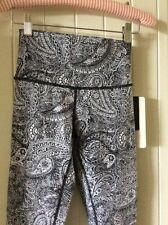 NWOT Lululemon High Times Pant Full-On Luon sz 4 , Black/white Yoga Pants