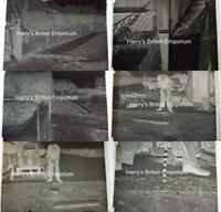 Pavement Repairs Worthing 1939 Set of 6 Glass Photograph Negatives