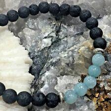 Aromatherapy diffuser Essential Oil Lava Aquamarine Bracelet Healing light blue