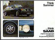 Saab 99 Accessories Summer 1978 UK Market Sales Brochure