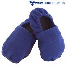 Accessoires bien être : pantoufles chaussons à chauffer au micro ondes - bleu