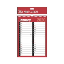 2020 Large MTV Quality Calendar Wall Hanging Planner Spiral Month To View - 3803