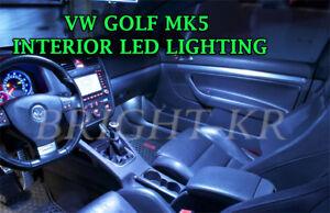FOR VW GOLF MK5 Interior UPGRADE 2003-2008 COOL WHITE LED BULBS FULL LIGHT SET
