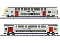 Märklin H0 43573 Doppelstockwagen-Set der NMBS/SNCB passend zu 29474 - NEU + OVP