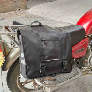 Motorcycle Bike Rear Tail Storage Saddlebag Case Pouch Universal Large capacit