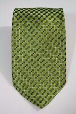 Nicole Miller Green Blue Square Dot Geometric Print Classic Silk Tie