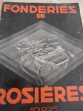 catalogue de fonderie fourneaux Rosieres année 1935 ( ref 3 )
