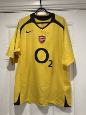 2005-06 Arsenal Away Shirt - Large -*Henry 14 On Back*