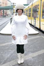 Clarissa Modelle Damen Kleid dress weiß white 70er True VINTAGE 70´s women