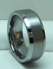 MEN 8MM TUNGSTEN CARBIDE SATIN FINISHED comfort fit ring size 8