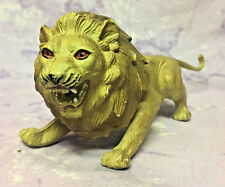 Lion Imperial Toy 1993 Wild Animal Rubber PLASTIC TOy 8.5 inches LONG Rare HTF