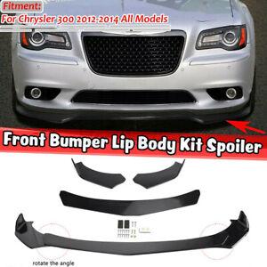 For Chrysler 300 SRT8 2012-2014 Front Bumper Lip Spoiler Splitter Body Kit 4PCS