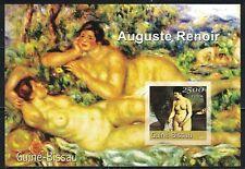 Guinea Bissau: 2001 S/S MNH imperf. Auguste Renoir nude