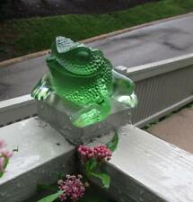 Pristine Lalique 1970'S  Gregoire Green Frog Toad