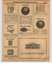 1927 PAPER AD Unusual Army Navy Lisle Sack Bike Athletic Supporter Jock Strap