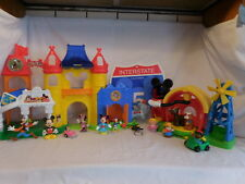 Fisher Price Little People Discover Disney Mickey Mouse Castle + Interstate Sign