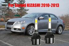 LED For KIZASHI 2010-2013 Headlight Kit H7 6000K White CREE Bulbs Low Beam