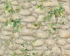 Steintapete Dekora Natur 4 8344 16 834416 Tapete Mauer mit Ranken (1,77€/1qm)