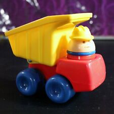 Little Tikes Toddle Tots 80's Dump Truck Chunky People Figure worker