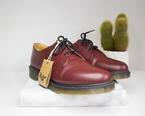Dr. Martens 1461PW Unisex-Adults' lace-up shoes, Cherry Red EU45 / New With Box