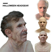 Latex Old Man Mask Male Disguise Cosplay Costume Halloween Party Realistic Masks