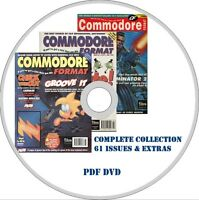 COMMODORE FORMAT computer magazine ALL 61 ISSUES + EXTRAS! PDF on DVD C64 games