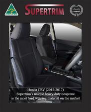 FRONT Seat Cover 100% Fit Honda CR-V Premium Neoprene Waterproof Airbag Safe