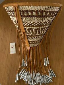 "authentic apache made craft Apache burden basket fine weaving 12x15x31"" 284"