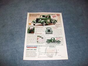 1936 Ford Castrol Tanker Truck 1:18 Scale Fairfield Mint Ad