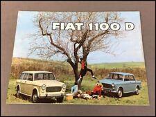 Fiat 1100 D 1100D Original Car Sales Brochure Catalog - 1960s