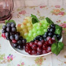 6 Colors Lifelike Artificial Fake Fruit Grape Plastic Decorative Fruits Props