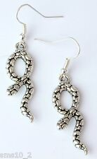 Hand Made Silver Colour Snake Earrings HCE324