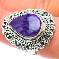 Charoite 925 Sterling Silver Ring Size 8 Ana Co Jewelry R55860F