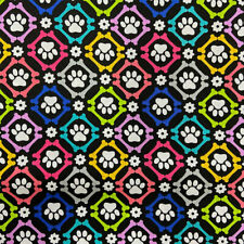 Fabric Palette Dog Loves Bones Dog Paws and Bones - Per 1/4 Metre