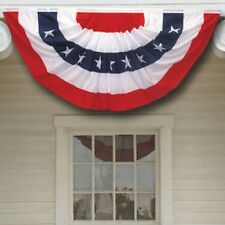 """27"""" x 54"""" PATRIOTIC AMERICAN FLAG BUNTING - Rugged 2 Ply Polyester"""