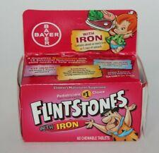 FLINTSTONES IRON MULTIVITAMINS 60 CHEWABLE TABLETS KIDS CHILDREN BAYER