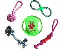 Chill E Dog Dog Chew Toys Small - Medium Dogs Frisbee & Rope Toys 5 count