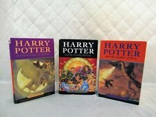 Harry Potter HC Books x 3 Raincoast Bloomsbury JK Rowling Goblet Prisoner Hallow