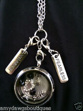 Dumbbell Memory Locket Fearless Weightlifting necklace,Exercise,Gym Necklace