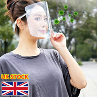 3x Full Face Shield Cover Clear Flip Up Visor oil fume Protection Safety Work UK