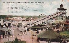 Postcard Chutes Tower Esplanade White City Denver Co