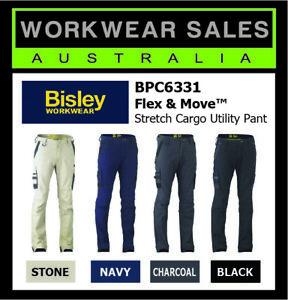 Bisley Flex & Move™ Stretch Cargo Slim Utility Work Pants BPC6331 Straight Leg