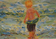 ACEO Limited Edition Giclee Print Of Original Acrylic Painting - Kid in Water
