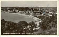 PC14741 Marine Parade from Castle Drive. Falmouth. 1955
