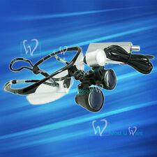 Dental Dentist Surgical Medical Binocular Loupe Sport Glasses 25x Led Head Lamp