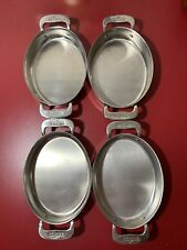 4 All-Clad Small Oval Stainless Baker Au Gratin Double Handle Mini Pan