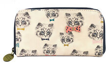 CAT DESIGN REPEAT PRINT CAT PURSE / LADIES / TRAVEL ACCESSORY / CREDIT CARD