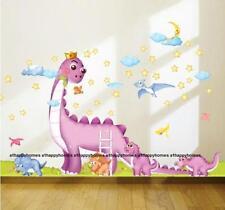 DINOSAURS WALL STICKERS ANIMAL Stars Moon Bird Art DECAL Decor BOYS Kids Nursery