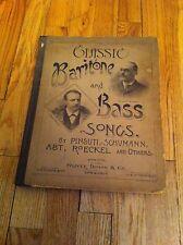 Antico 1888 Book Classico Baritono una Basso Myron Whitley Charles Santley